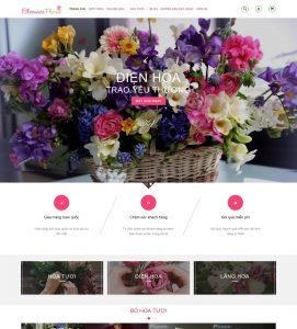 Giao diện web shop bán hoa tươi